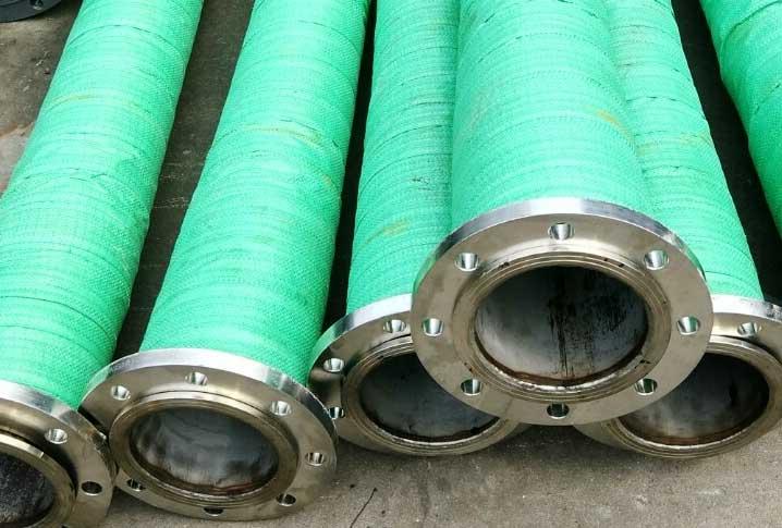 大口径法兰橡胶钢丝管